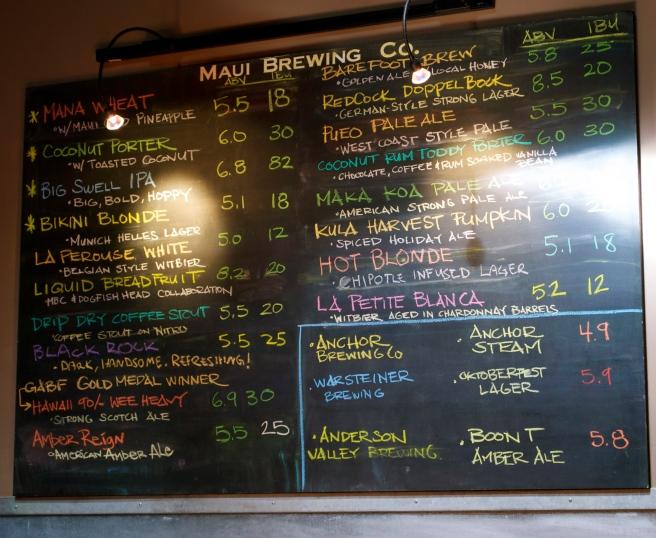 The amazing beer list